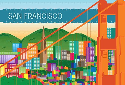 design - My City-San Francisco by Elizabeth Bright