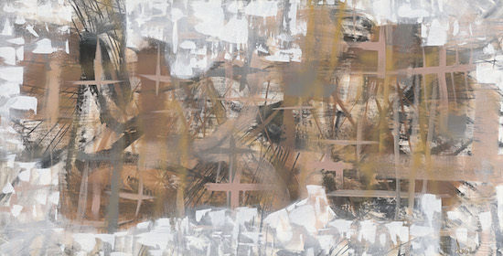 design - San Francisco Abstract Cityscape by Angela Simeone