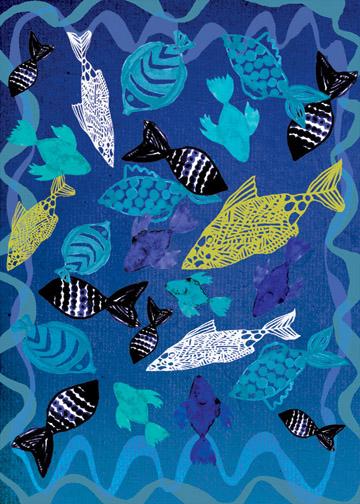 art prints - blue water by marcia biasiello