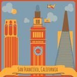 SF landmarks by Elizabeth Bright