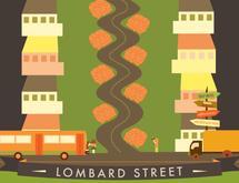 LOMBARD ILLUSTRATION by Elizabeth Bright
