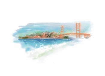 San Francisco Golden Gate & Ocean Mist