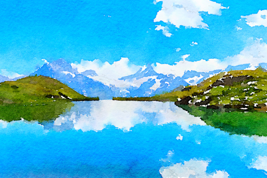 art prints - Reflection of the Alps by Kelly Chen