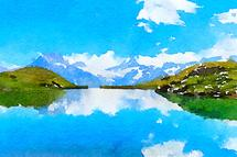 Reflection of the Alps by Kelly Chen