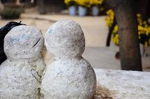 Snowmen in Love by Malty Designs