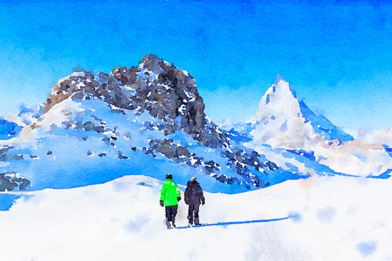 art prints - Winter hike towards Matterhorn by Kelly Chen