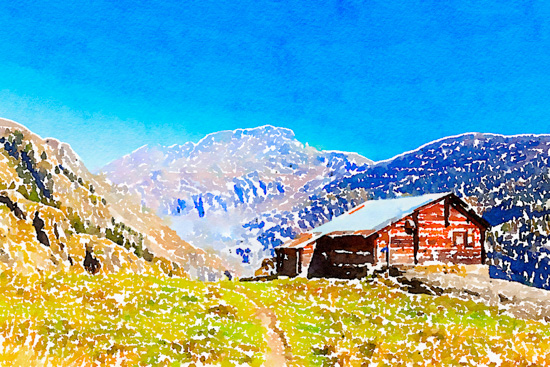 art prints - On the way in the Alps by Kelly Chen