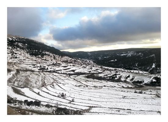 art prints - Gudar mountain range by julia grifol designs