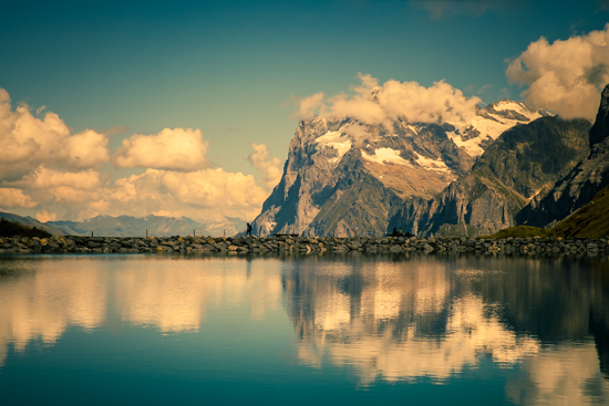 art prints - Wetterhorn in cloud by Kelly Chen