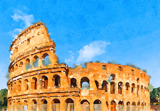 art prints - Colosseum in sunshine by Kelly Chen