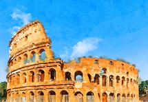 Colosseum in sunshine by Kelly Chen