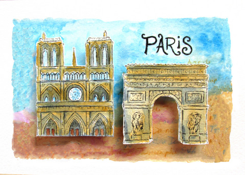 art prints - Dreaming of Paris by Christine Rae