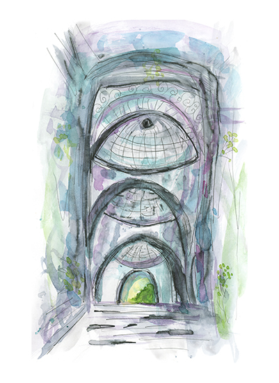 art prints - Portals at Sacre Coeur by Michele Perry