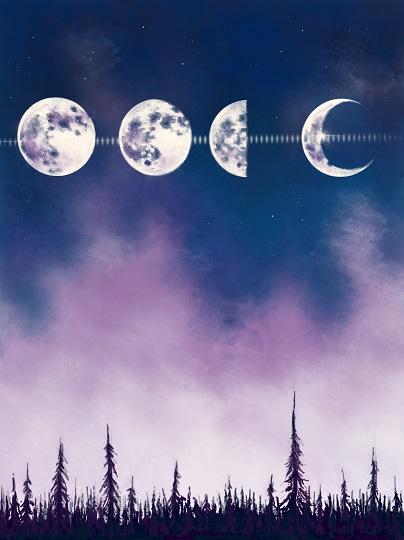 art prints - Lunar Cycle by Therese Tucker
