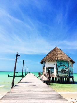 Blue Pier in Holbox