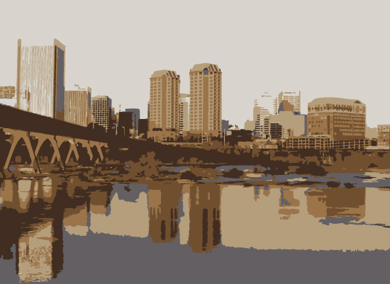 art prints - RVA | River City by Emily Ripka