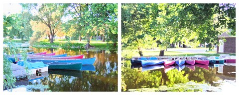 art prints - Canoes at rest by Christine Rae