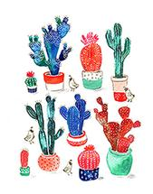 Colorful Cactii by Traci Sally