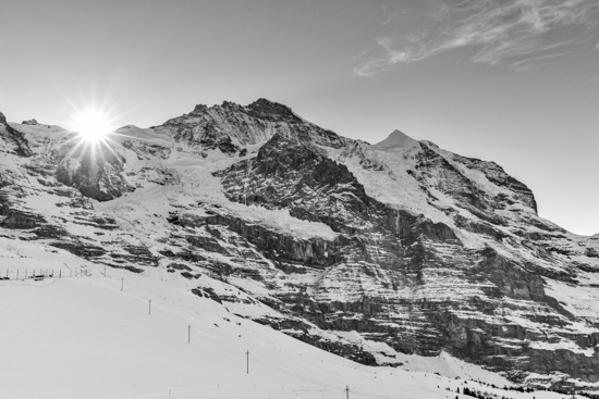 art prints - Sun on the shoulder of Jungfrau by Kelly Chen