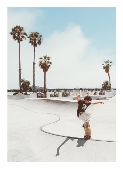 art prints - Santa Barbara Skate I by Kamala Nahas