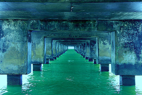 art prints - Below The Pier by Dalu Design