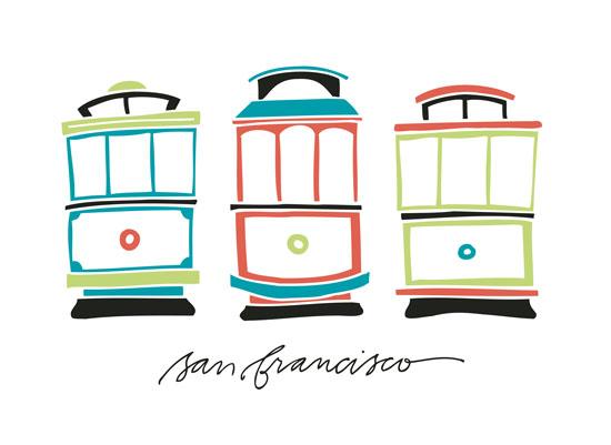 design - Cable Car Trio by Rebekah Disch