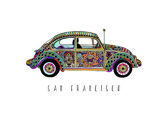 design - Art Car of San Francisco by Tracy Andersson