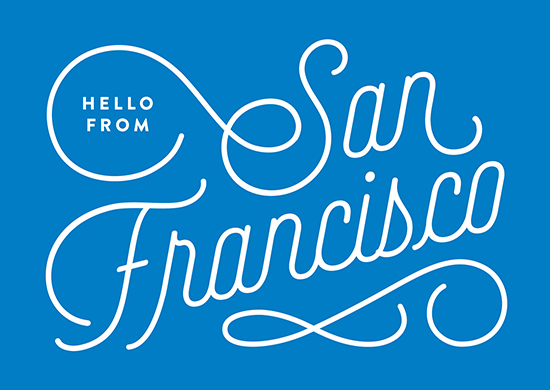 design - Hello from San Francisco by Genna Cowsert