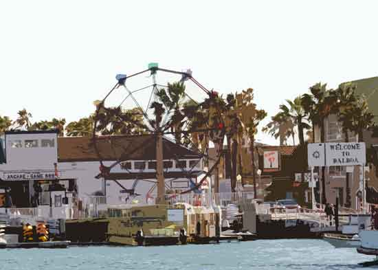 art prints - Balboa Fun Zone, Newport Beach, California by Dennis Landry