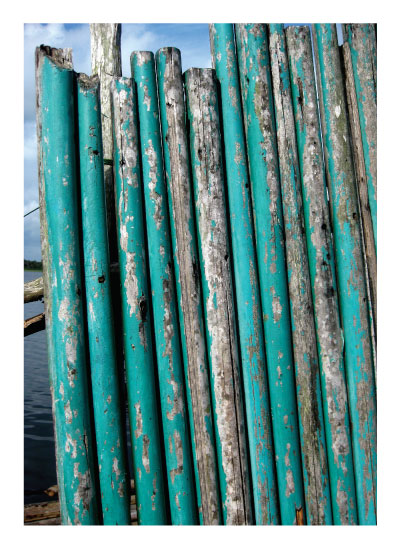art prints - Turquoise wall by the ocean by Judith Clifford