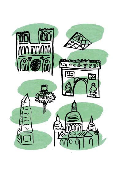 art prints - Paris by Day by Hannah Langford