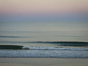 Breaking Waves at Dusk