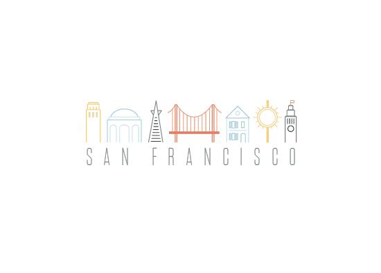 design - Landmarks of San Francisco by Olivia Goree