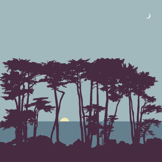 design - Lands End at Sunset by Karen P.