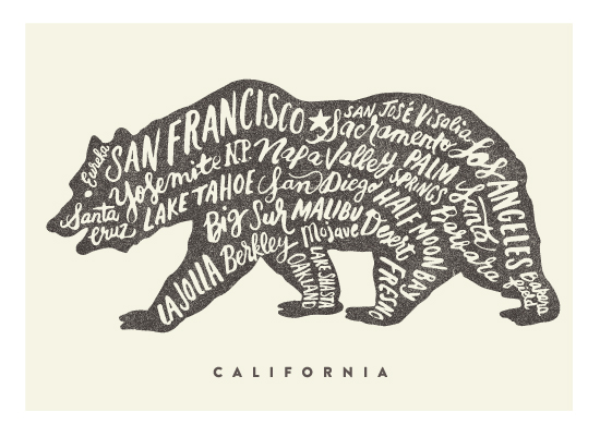 design - California Bear by Griffinbell Paper Co.