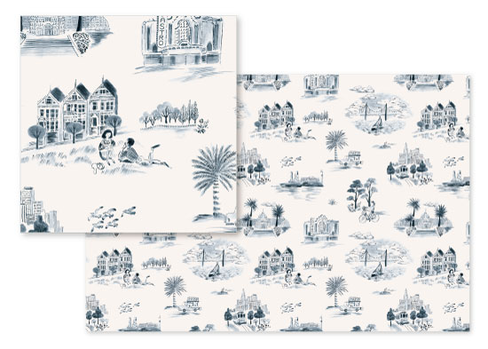 design - San Francisco Toile by Surface Love