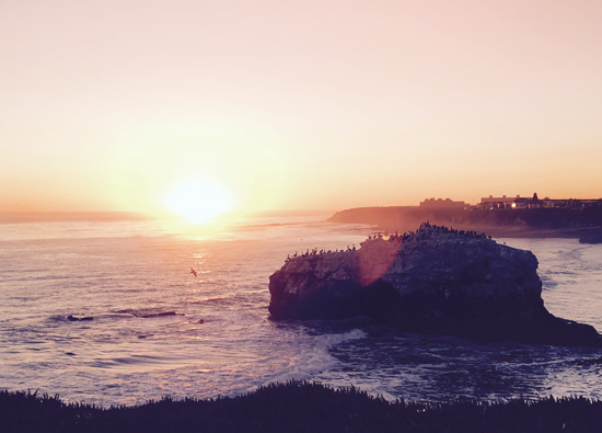 art prints - Sunset – Natural Bridges State Beach by Isabel