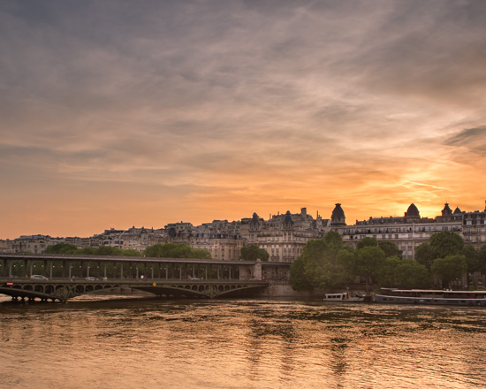 art prints - Sunset on the Seine by Rick Walter