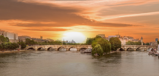 art prints - Sunrise on the Seine River by Rick Walter