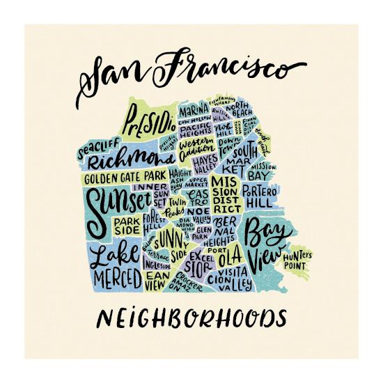 design - Neighborhoods of San Francisco by Laura Bolter Design
