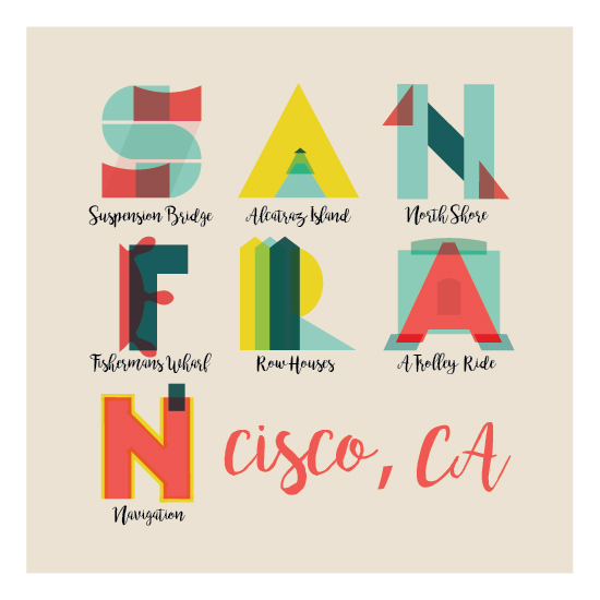 design - Geometric San Fran by Sara Franco