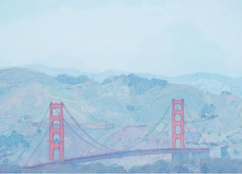 Golden Gate to Marin Headlands Sketch