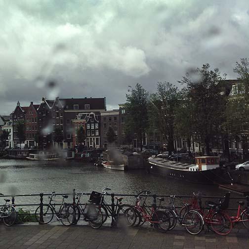 art prints - A Rainy Day in Amsterdam by Kasmira Mohanty