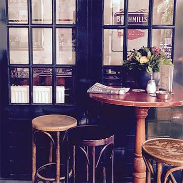 art prints - Cafe Corner in Amsterdam by Kasmira Mohanty