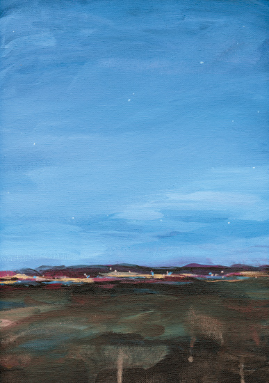 art prints - Evening Lights by Field and Sky