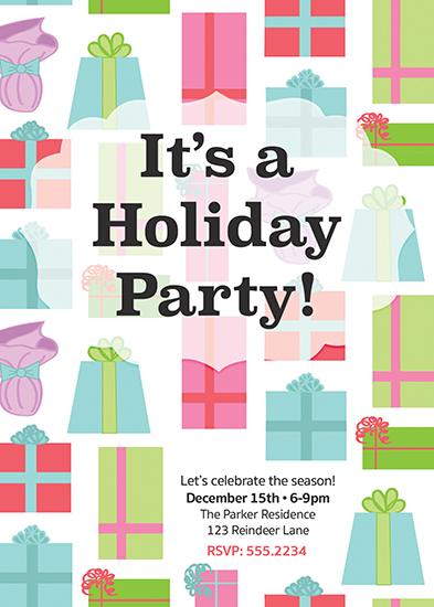 party invitations - Retro Presents by Nella Designs
