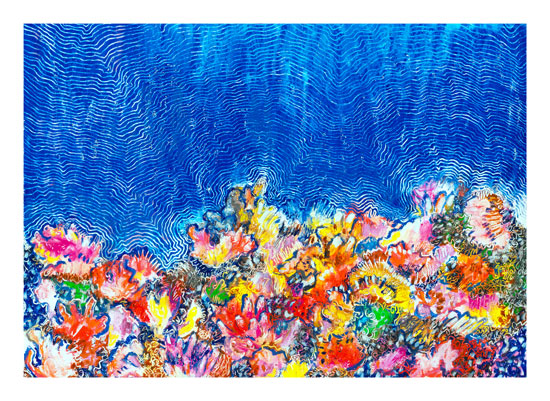 art prints - Tropical Coral Reef by Pooja Pittie