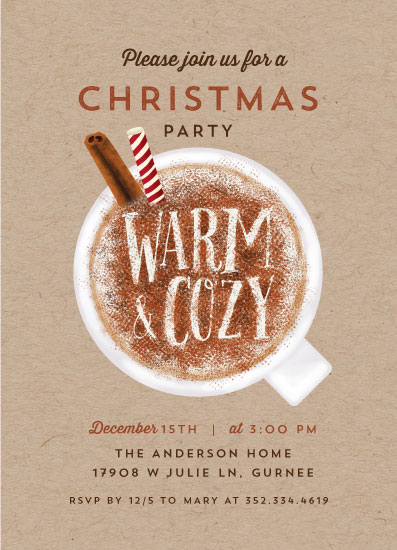 party invitations - It's warm and cozy by iamtanya