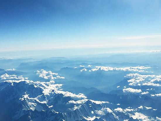 art prints - Above Mont Blanc by Chloe Chung