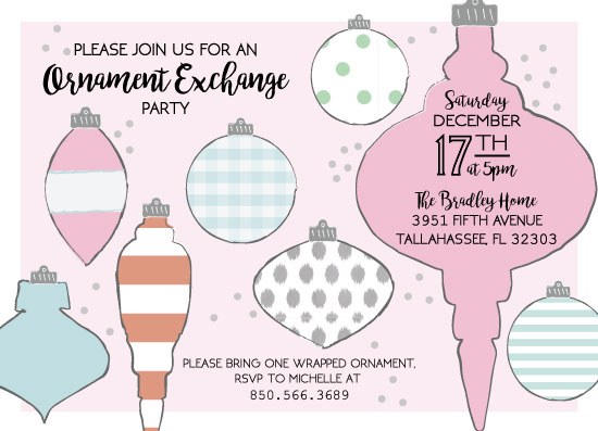 party invitations - Ornament Exchange by Natalie Jump
